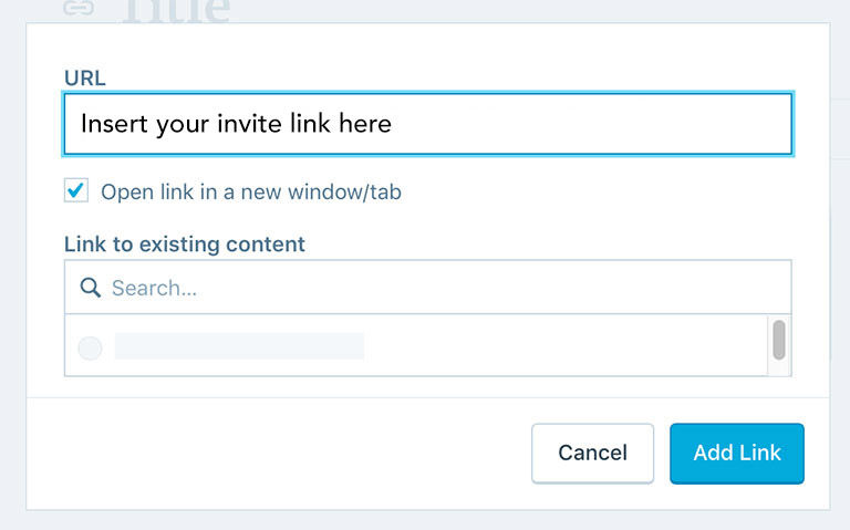 URL field input in the post section on Wordpress