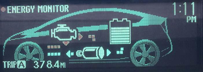 Prius dashboard