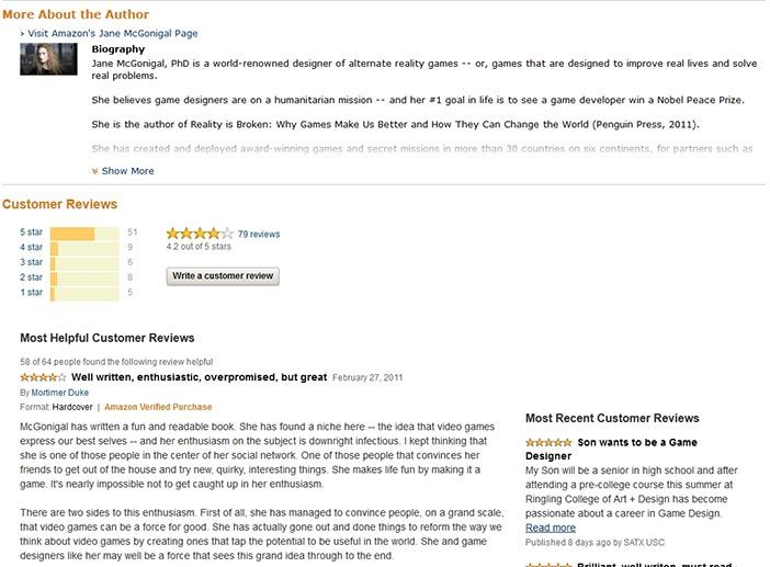 Amazon community rating system