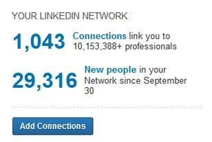 LinkedIn counts each connection