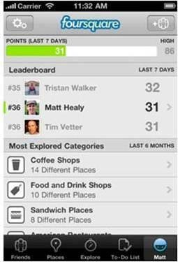 Cross-situational leaderboard by Foursquare