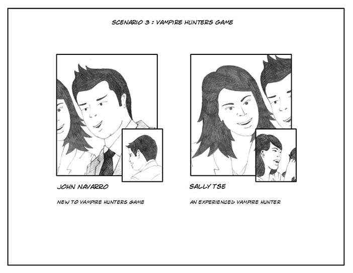 Vampire Hunter storyboard - the players.