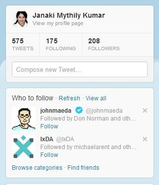 Twitter urges me to follow John Maeda and IxDA since people in my current network do so