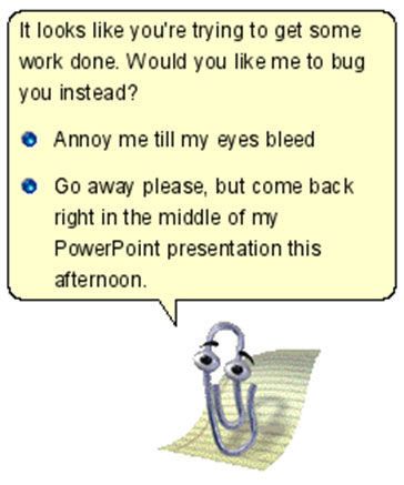 Mr. Clippy takes charge