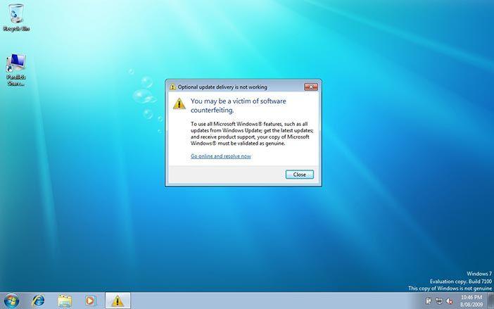 Windows genuine advantage nagware