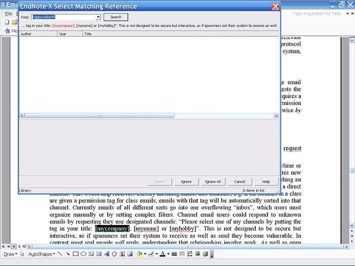 Endnote X takes charge