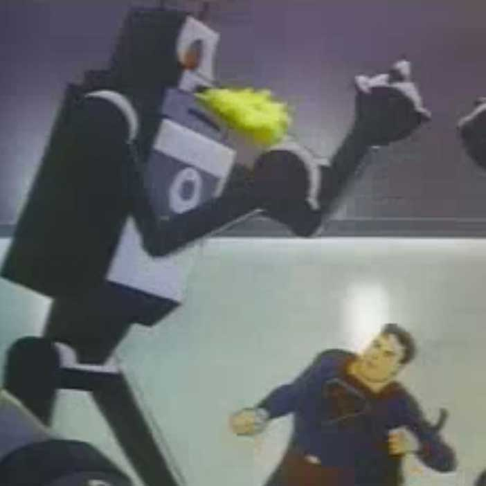 A Cartoon Robot in Superman