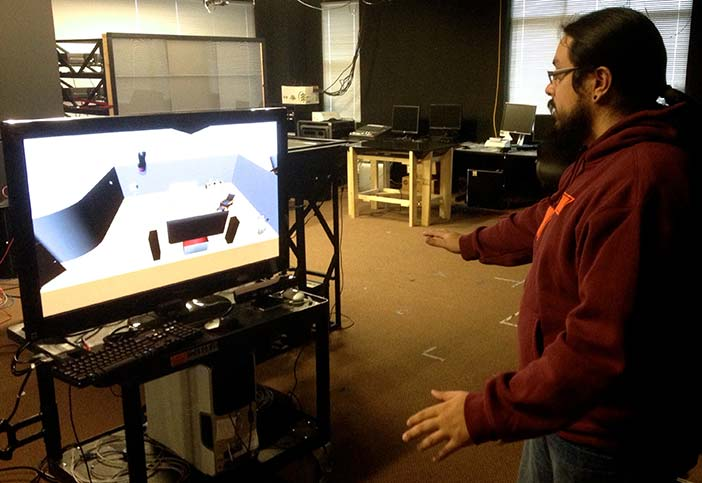 3D interaction with Microsoft Kinect