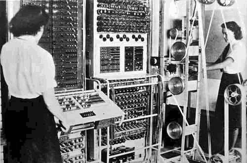 Colossus, the world's first totally electronic programmable computing device, built 1943-1945