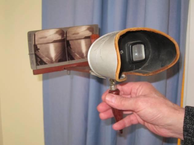 A Holmes stereoscope