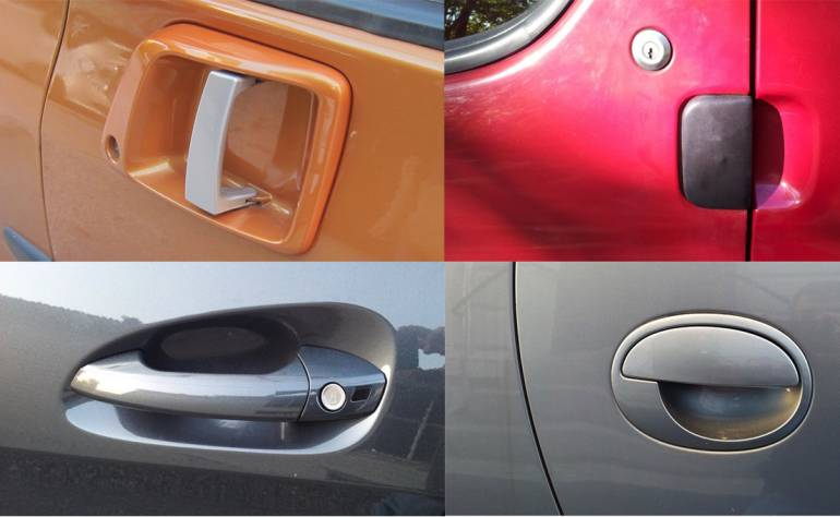 Intuitive everyday designs: Car door handles.