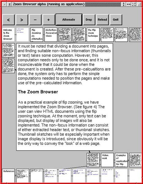 Flip zooming with a page zoomed in. Note the lines between pages to denote order!