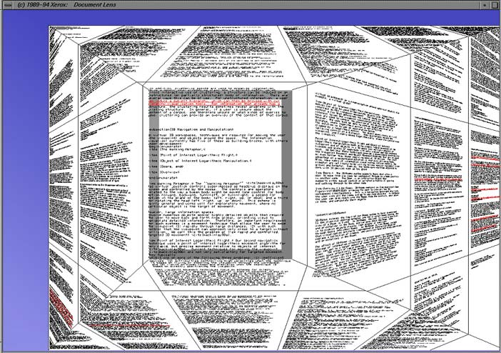 The Document Lens (Robertson and Mackinlay, 1993)