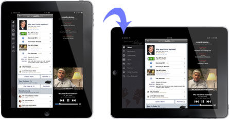An iPad switching orientation of the screen is a good example of context-aware computing