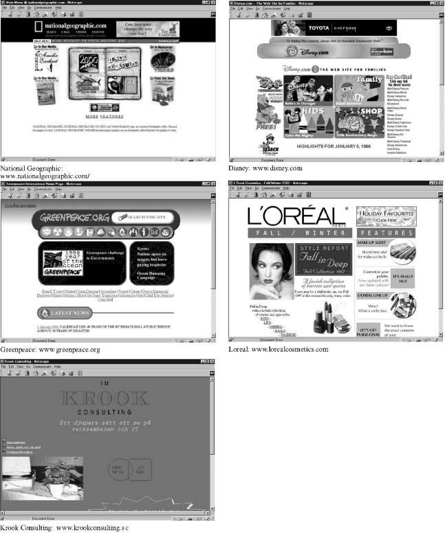 Sample Web Pages related to Beauty.(in Schenkman and Jonsson, 2000)