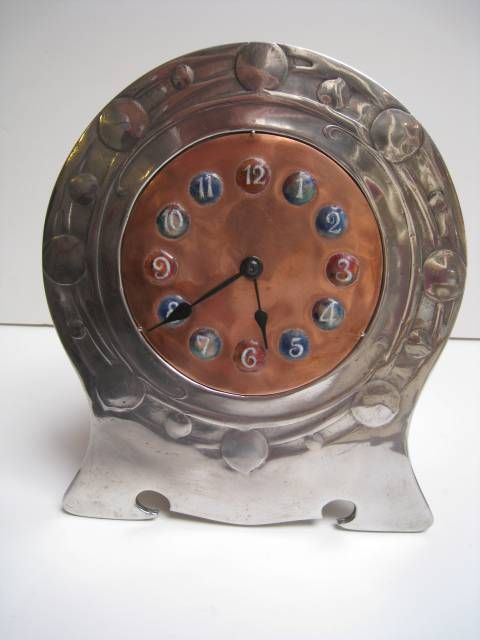 Art Nouveau in the UK: A Tudric Pewter Clock designed by Archibald Knox, 1902-05.