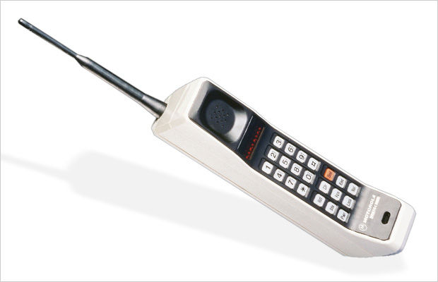The first handheld cell phone: Motorola DynaTAC 8000X (1983)