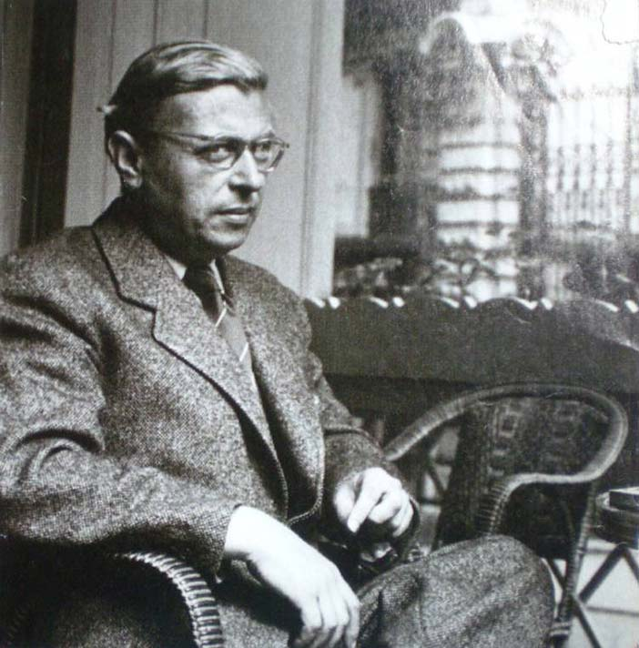 Jean-Paul Sartre in 1950