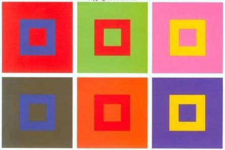 One of Itten's explorations of the interplay between colors