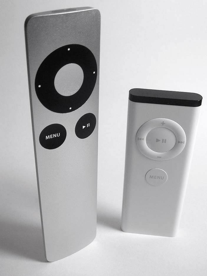 Remote controls for Apple products are good examples of HCI Design