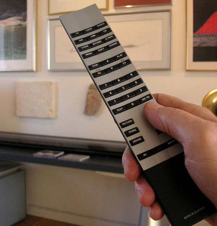 The B&O remote control - heavy seems to mean sturdy