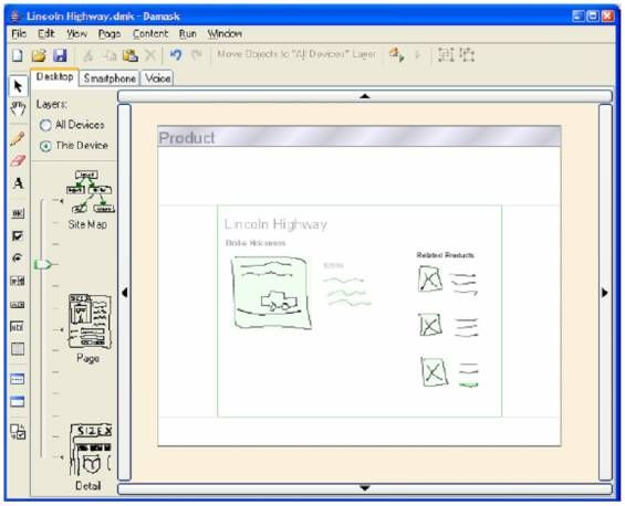 The Damask Authoring Environment (Lin and Landay, 2008)