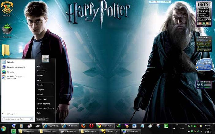 Aesthetics as an extension of the Self: Harry Potter skin for the Windows 7 operating system