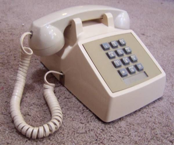 The hugely popular Western Electric Model 2500 (12 button Touch-Tone) telephone, manufactured in 1980.