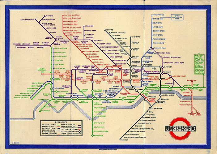 Henry Beck's London Underground Diagram (1933)