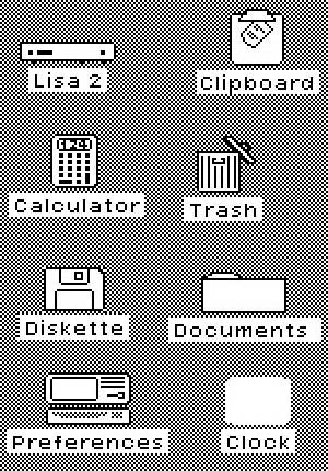 In computing, David Canfield Smith described computer icons as being like religious icons, which he said were pictures standing for (abstract) spiritual concepts.