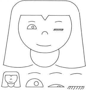 Sutherland's 'Winking Girl' drawing, created with the Sketchpad system