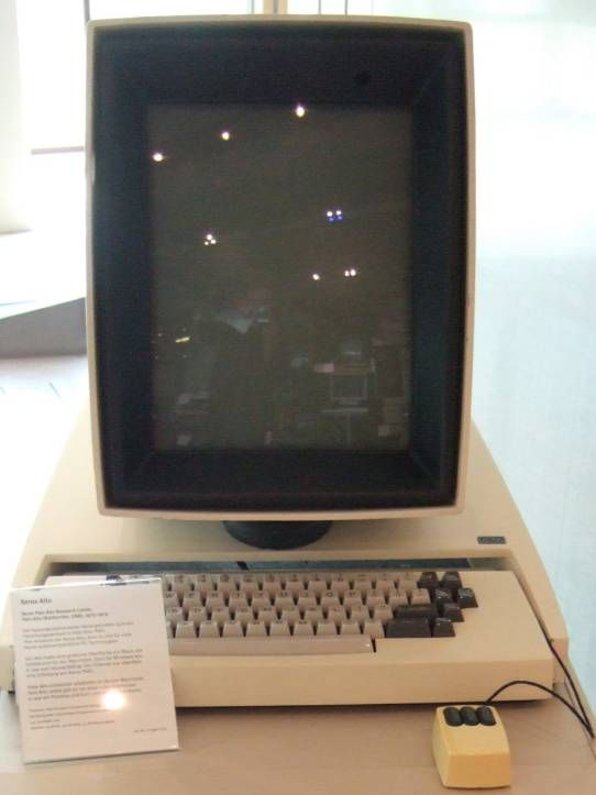 The Xerox Alto and Apple Lisa, early products in which bitmapped displays allowed pictorial icons to be used as mnemonic cues within the 'desktop metaphor'