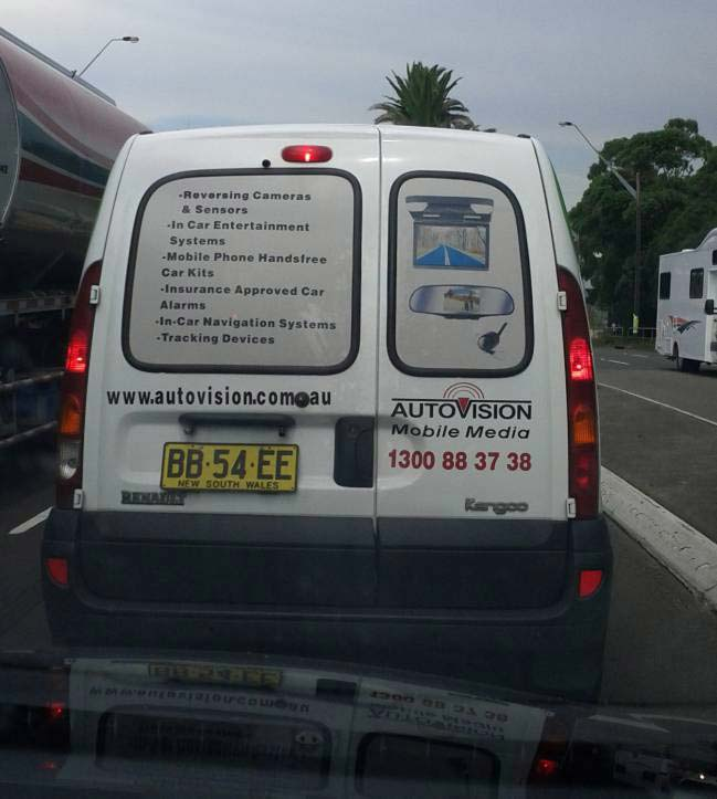 Autovision Mobile Media Van in New South Wales, specialising in in-car vehicle tracking, navigation and recording solutions