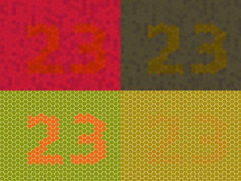 A side-by-side comparison of an image with a simulation of how a colorblind person would view it.