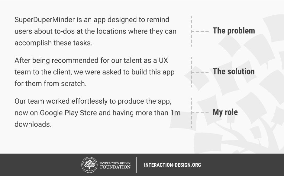 How to write the beginning of your UX case study | Interaction