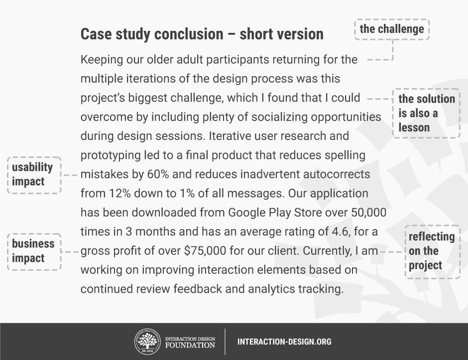 How to write the conclusion of your case study | Interaction Design