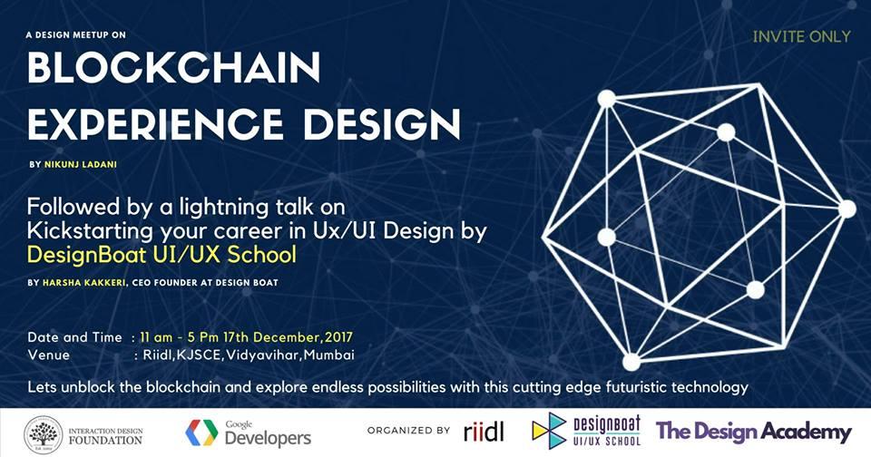 Blockchain Design Experience Meetup And Workshop On Ui Ux Dec 17 2017 Interaction Design Foundation
