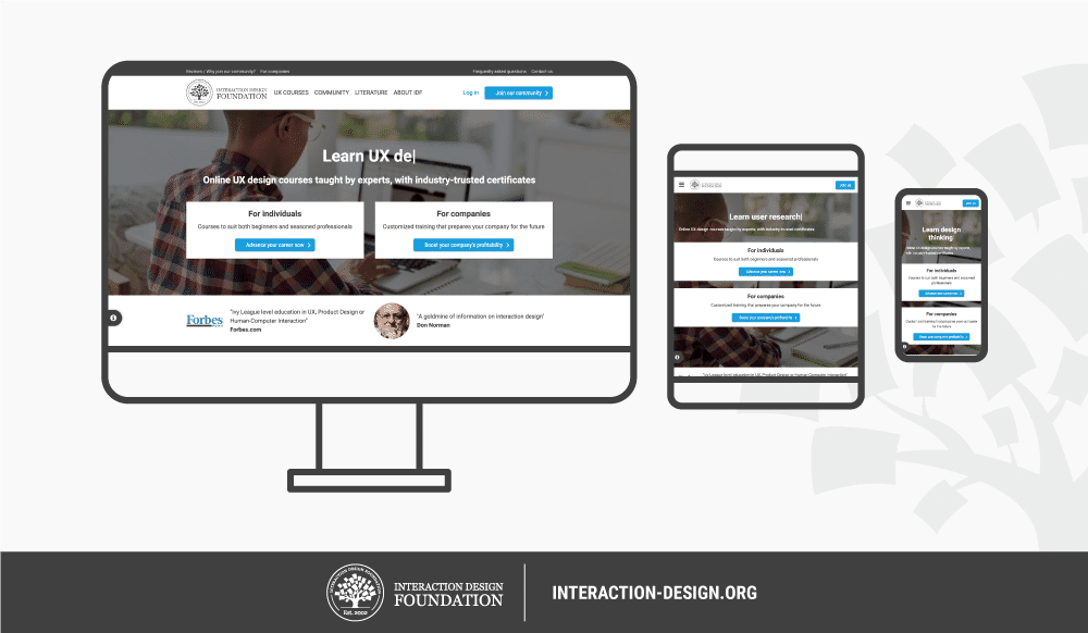 What Is Responsive Design Interaction Design Foundation
