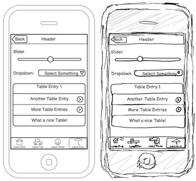 iphone mockup - Wireframe Design Tool Online
