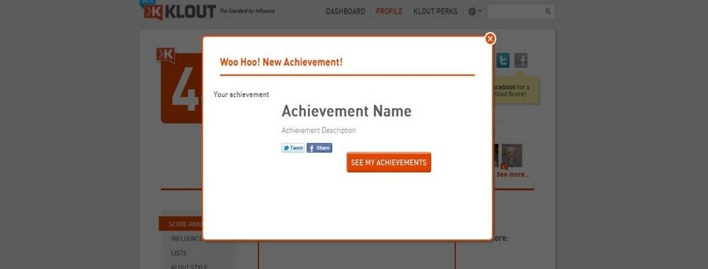 Display Achievements to Encourage Website Usage