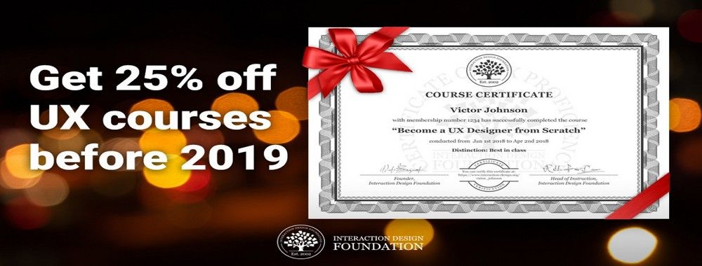 Let's End the Year on a High: Get 25% off UX Courses for the Whole of 2019