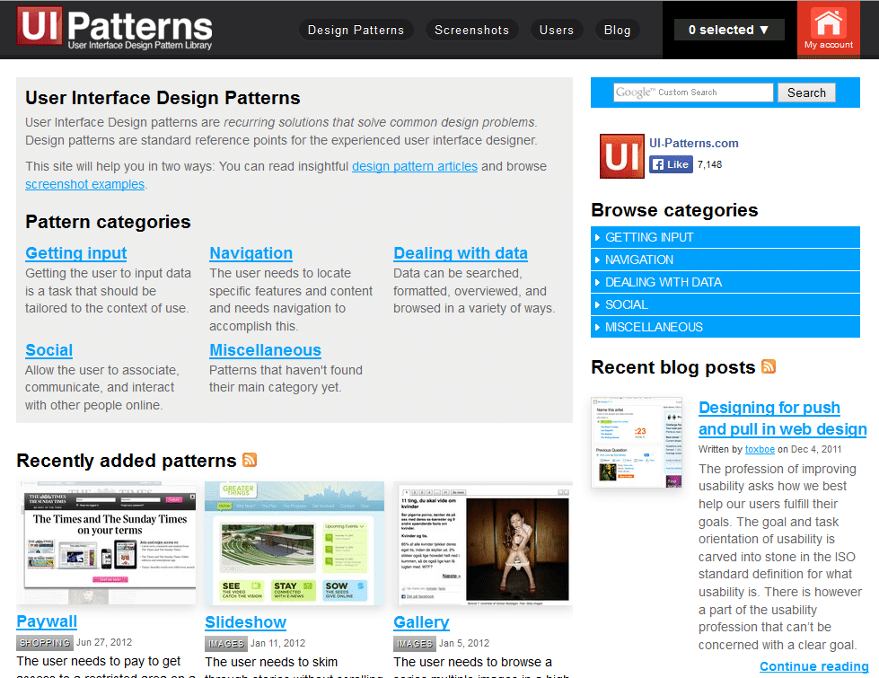 10 Great Sites For Ui Design Patterns Interaction Design