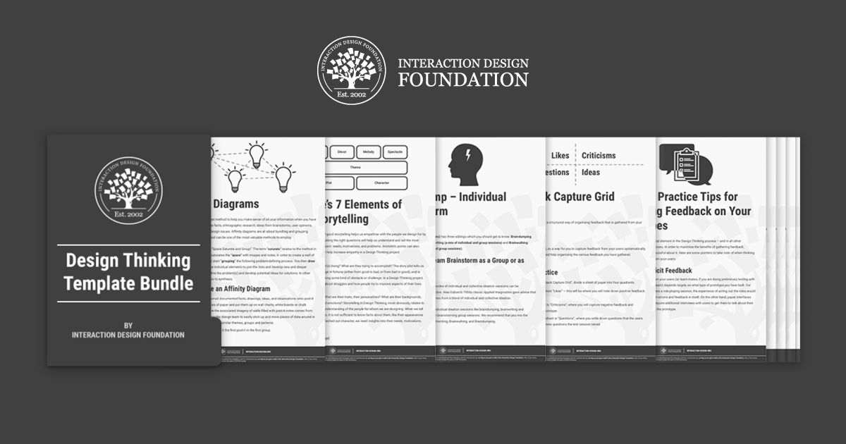 "Download a master bundle of ""Design Thinking"" templates now!"