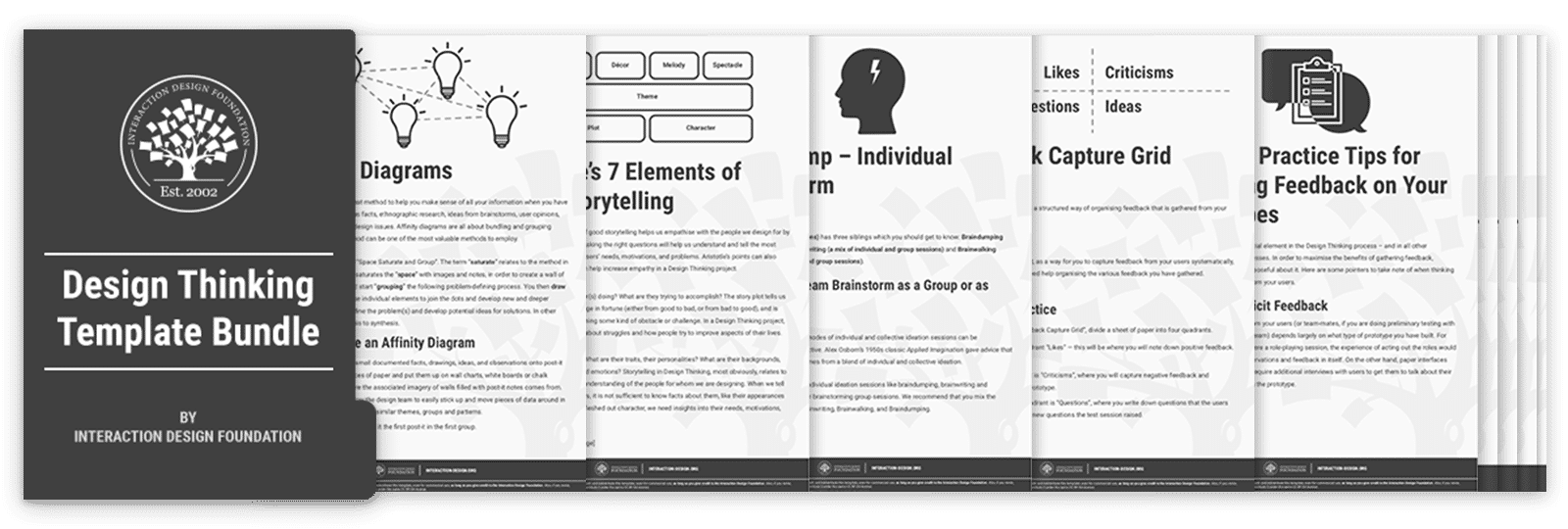 Bundle of 35 Design Thinking templates