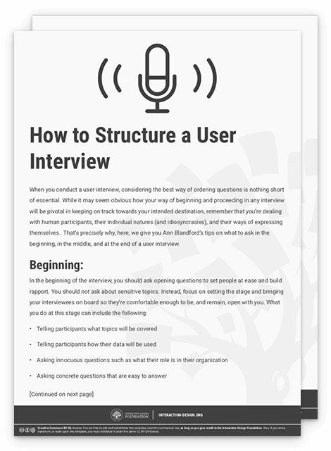 Get Your Free Template For U201cHow To Structure A User Interviewu201d