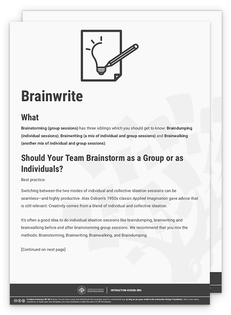 Learn How to Use the Best Ideation Methods: Brainstorming