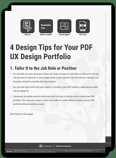 How To Create A Pdf Ux Design Portfolio Interaction Design Foundation