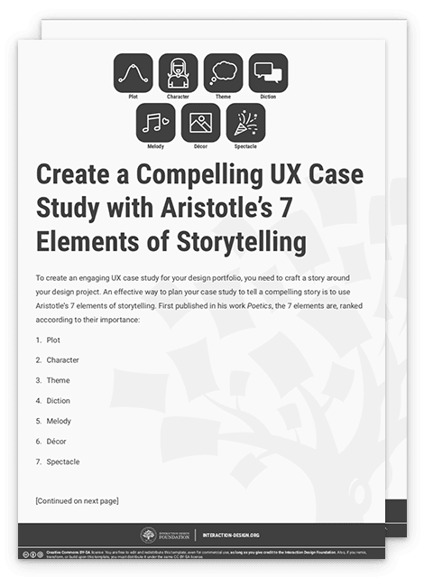 Create a Compelling UX Case Study with Aristotle's 7 Elements of Storytelling