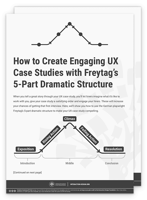 How to Create Engaging UX Case Studies with Freytag's 5-Part Dramatic Structure